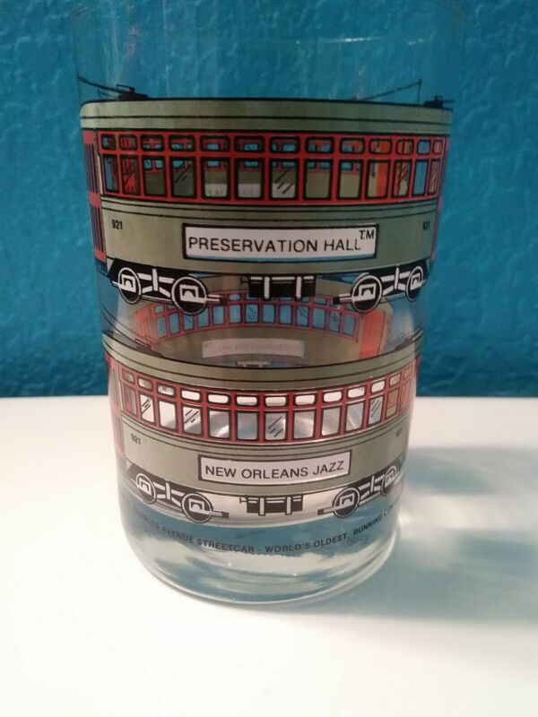 1983 Ljungberg Collection New Orleans St. Charles Streetcar Glass Tumbler