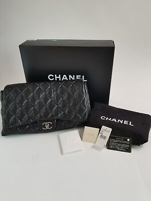 Chanel Chanel3 Single Flap Bag Quilted Leather Lambskin Black  Quilted Lambskin Single Flap
