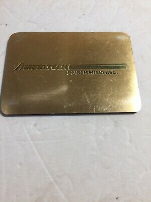 Ameritech Publishing Gold Magnetic Memo Book. Vintage Advertising