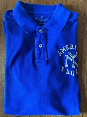 Used, AMERICAN EAGLE NYC LOGO BLUE POLO SHIRT (LARGE) for sale  Shipping to Nigeria