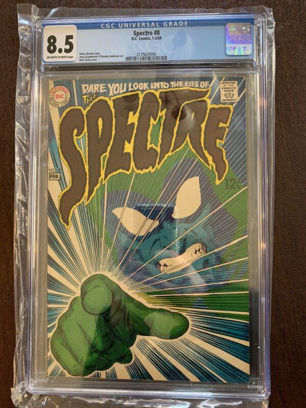 SPECTRE 8 CGC 8.5 CLASSIC COVER DC COMICS