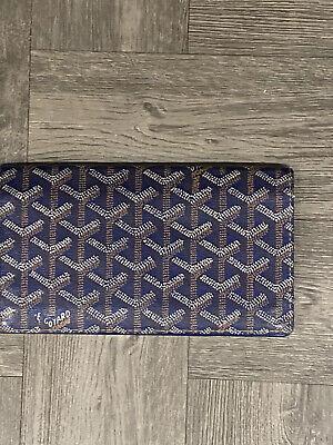 Authentic Goyard Vintage Blue Flap Wallet
