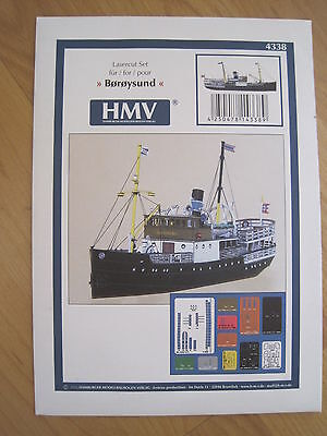 Boroysund Lasercutsatz für Dampfschiff Schiff Kartonbausatz *NEU* Bastelbogen