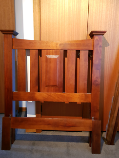 Timber Single Bed, Tall boy and Bedside Table