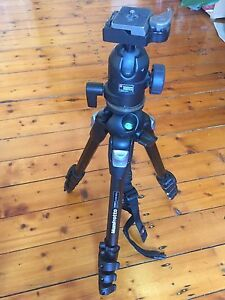 Manfrotto 190MF4 tripod with 488CR2 head and carry bag Bondi Beach Eastern Suburbs Preview