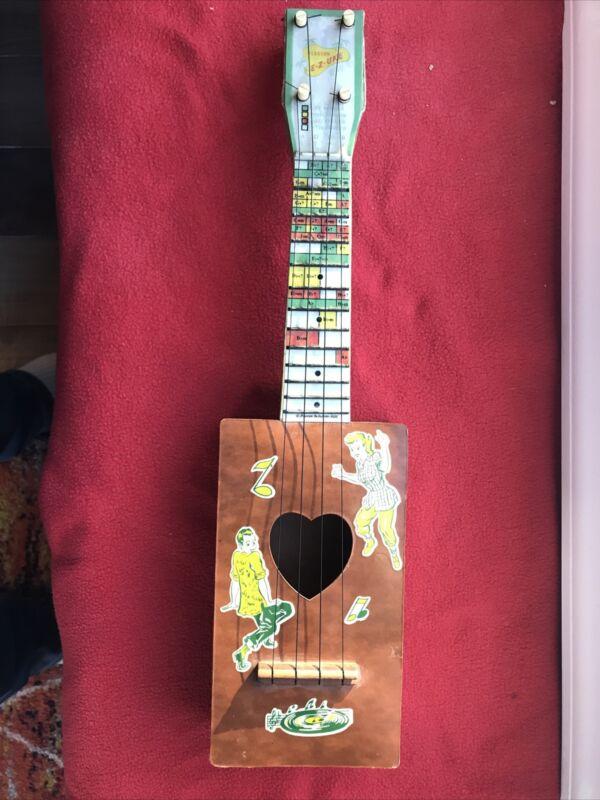 """Pearson industries 1950 ukulele """"e-z-uke"""" good condition"""