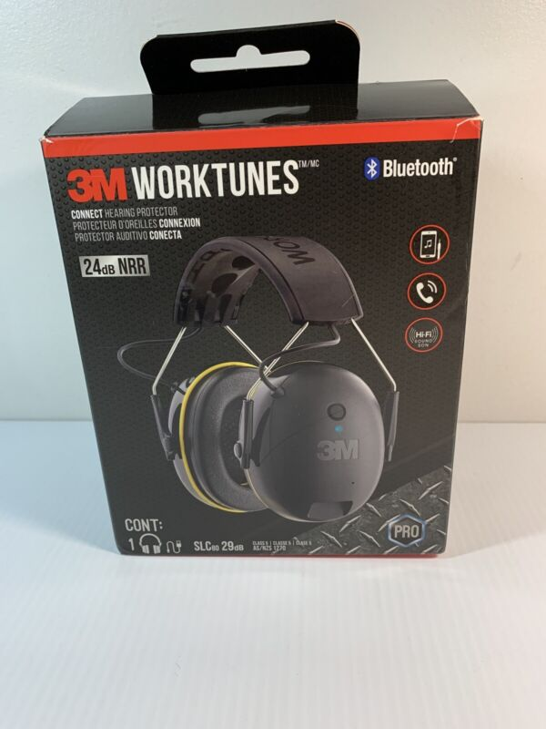 3M 90543 WorkTunes Connect Hearing Protector with Bluetooth Technology