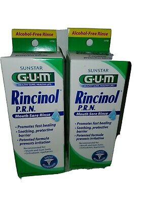 2-Sunstar GUM Rincinol Mouth Sore Rinse 4oz Mouth & Gum Sores Mouth Sore Rinse
