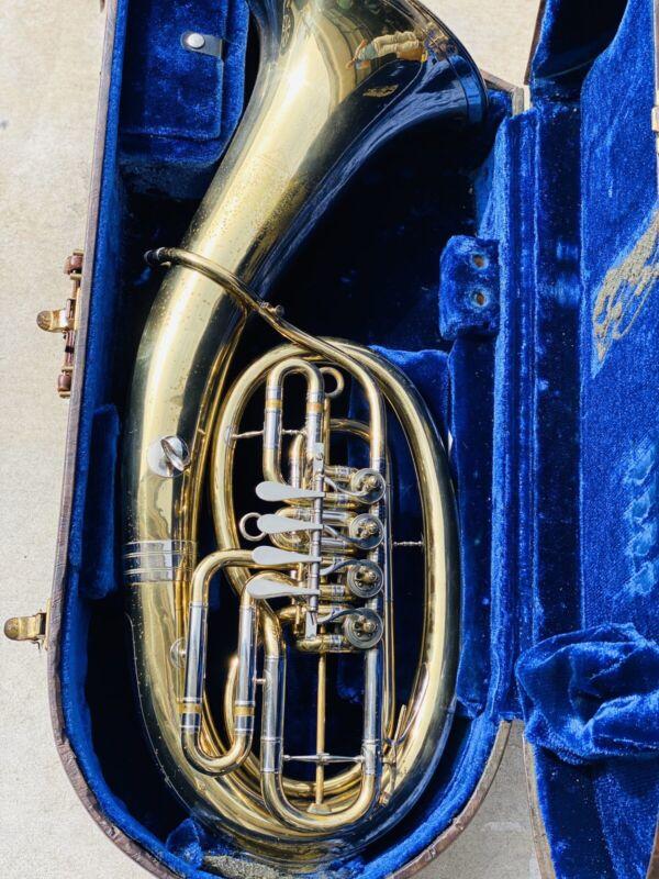 RARE Mirafone 4 Rotor Euphonium Tuba COLLECTOR OWNER GERMANY MADE