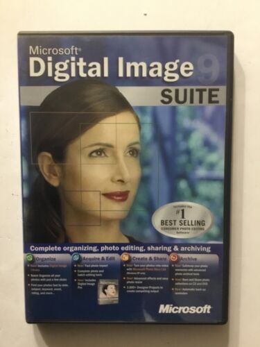 Microsoft Digital Image 9 Pro & Library SUITE  - Photo Editing Software