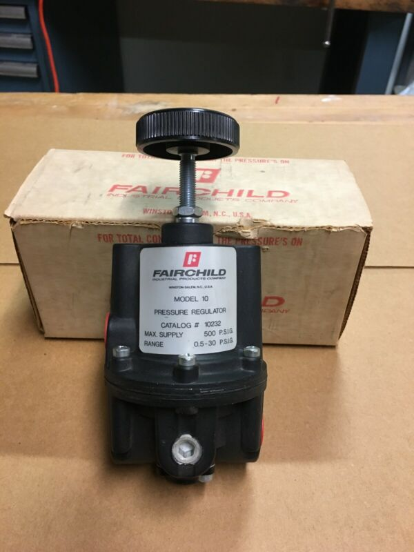 Fairchild, 10232, Mod.10 Pressure Regulator, Max PSIG 500 Range 0.5 - 30 PSIG