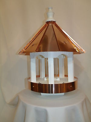 Copper Roof and Trim Bird Feeder Amish Made in USA Large 24 inches High 16 wide