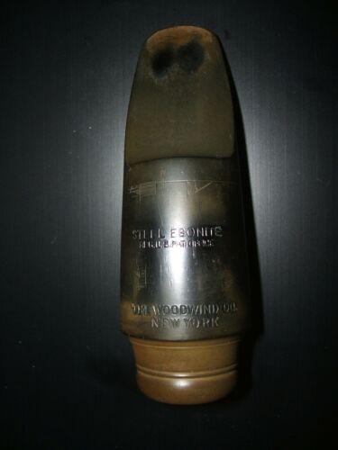 Woodwind Co. of N. Y. alto saxophone mouthpiece, B5*. Steel ebonite hard rubber