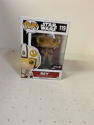 Funko Pop! Rey With Helmet Star Wars Game Stop Exclusive 119