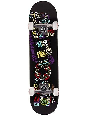 """Almost Aztecian 7.25"""" Black Youth Soft Wheel MID Skateboard Complete  Brand New!"""