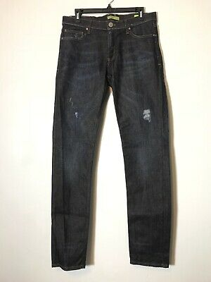 Versace Jeans Slim Fit Distressed Dark Wash Jeans Size 34