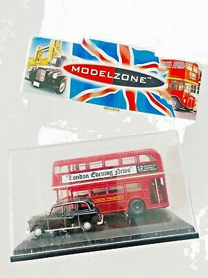 LONDON BUS & TAXI MODEL CAR GIFT SET FX4 1:76 SCALE OXFORD LD004 ROUTEMASTER K8