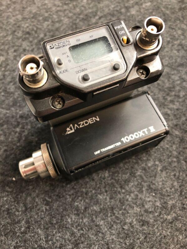 Azden 1000URX/VM UHF Receiver and 1000XT Plug-In UHF Transmitter
