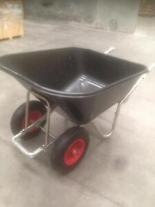 Wheelbarrow Italian top quality 160L ,double wheels ,galvanized Kingsgrove Canterbury Area Preview