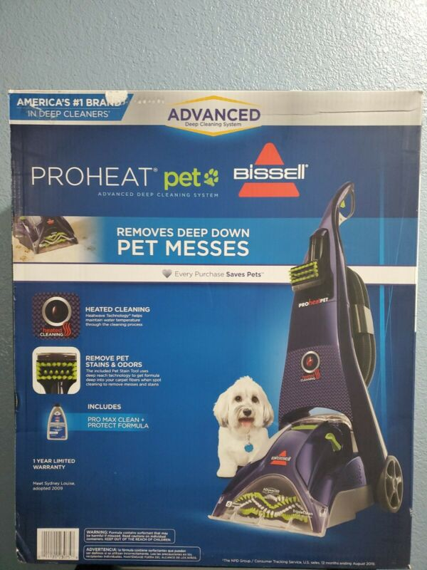 BISSELL PROHEAT PET ADVANCED HEATED FULL-SIZE CARPET CLEANER 1799 New & Sealed