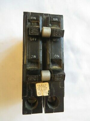 Square D 2030 Amp Circuit Breaker 4 Pole Type Qot 120240 Hook Tested