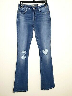 ARIZONA Women's Distressed Slim Boot Bootcut Blue Jeans size 5 with tags *NEW*