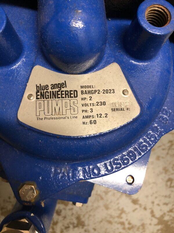 2HP Blue Angel Grinder Pump