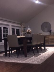 Hand Crafted dining table and chairs