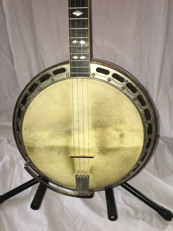 Vintage 1924 to 1930 Ludwig Kingston Tenor Banjo
