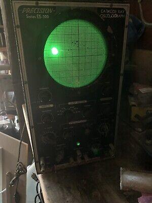 Precision Apparatus Oscilloscope Es-500 Oscillograph Tv Equipment Cathode Ray