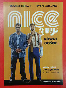 Russell Crowe Ryan Gosling - The Nice Guys - Polish promo FLYER - <span itemprop=availableAtOrFrom>Gdynia, Polska</span> - Russell Crowe Ryan Gosling - The Nice Guys - Polish promo FLYER - Gdynia, Polska