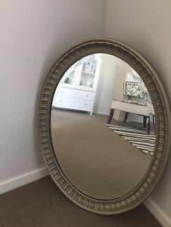 Stunning oval wall mirror