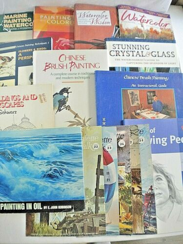 16 Art Instruction Books - Oil, Watercolor, Chinese, Drawing, Painting