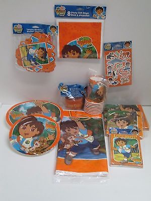 GO DIEGO GO BIRTHDAY PARTY SET  PARTY SUPPLIES -- 11 PACKAGE SET](Diego Birthday Party)