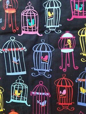 Michael Miller Fabrics Bird Cage Tweet Tweet Fabric - 2 Yards and 28 inches