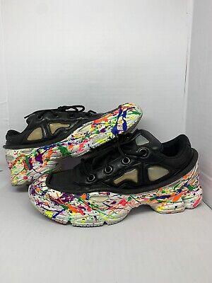 Size 8.5- adidas Ozweego x Raf Simons Black Bone - AUTHENTIC paint custom