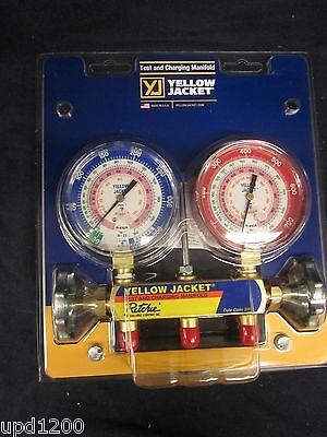 Yellow Jacket 2v R404r410ar22 3-18 Manifold Wgauges 42001