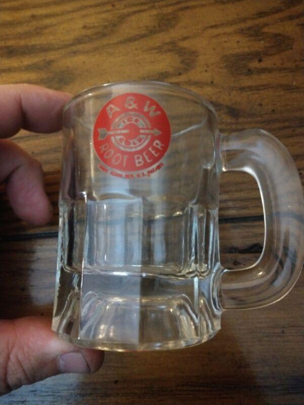 Vintage A&W Root Beer Baby Glass Mug