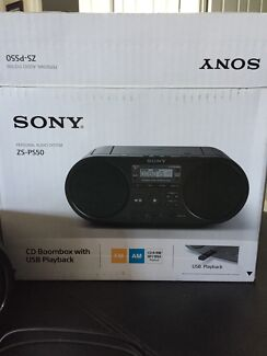 Sony  ZS-PS50 CD Boombox with USb Playback New in Box