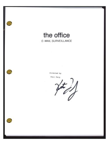 Kate Flannery Signed Autograph THE OFFICE Email Surveillance Episode Script COA
