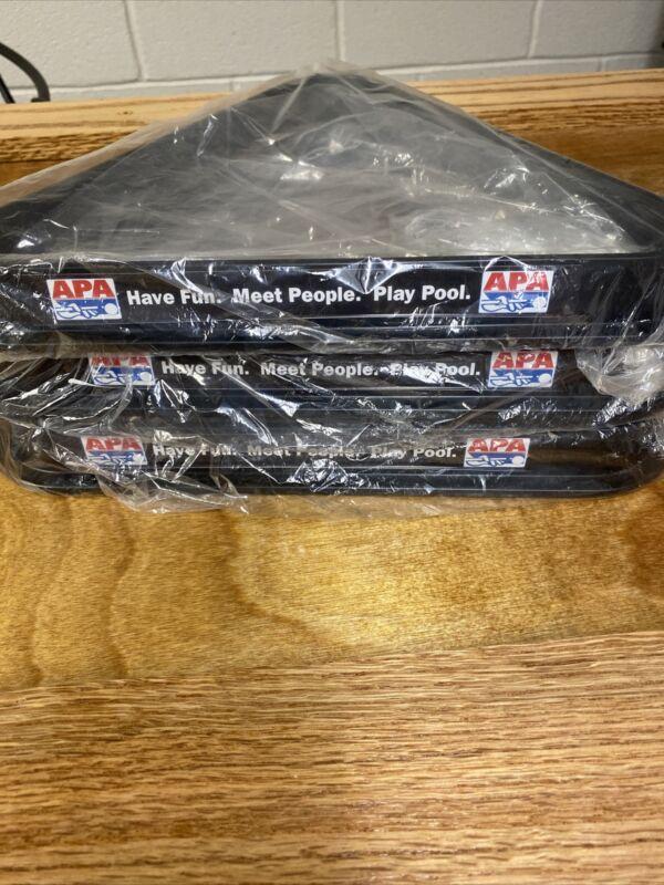 Plastic APA 8 Ball Pool Table Rack Triangle Rack Plastic Standard Size