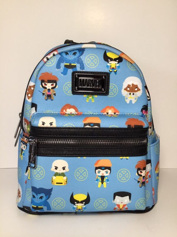 Loungefly Marvel X Men Chibi All Over Print Faux Leather Mini Backpack