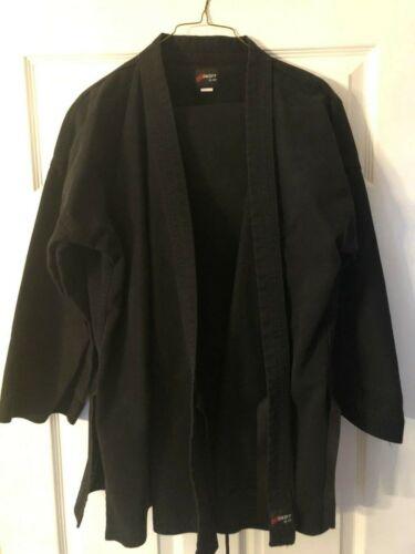 Swift MTI  Martial Arts Black Uniform Gi Pants & Jacket Size 3  Very Good Cond.