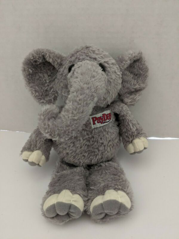 "PayDay Candy Elephant Plush Stuffed Animal Soft Toy 9"" Doll Bean Bag Hershey"
