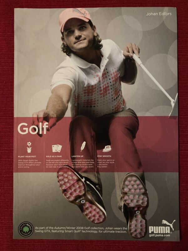 Johan Edfors for Puma Golf Collection 2008 Ad/Poster Promo Art Ad