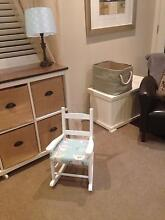 Child Toddler timber rocking chair with cushion Hamilton Newcastle Area Preview