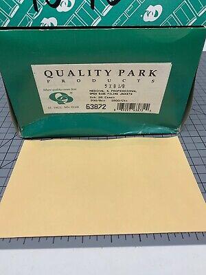Quality Park Paper File Jackets 5 X 8 18 28 Lb Manila Buff 500box 63872
