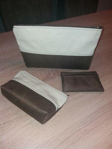 Kosmetiktasche+Geldtasche dazu Täschchen *geprestes Leder **Handarbeit *EDEL