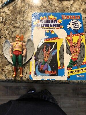 1984 SUPER POWERS Hawkman 12 CARDBACK CARD KENNER DC COMICS Unpunched Figure