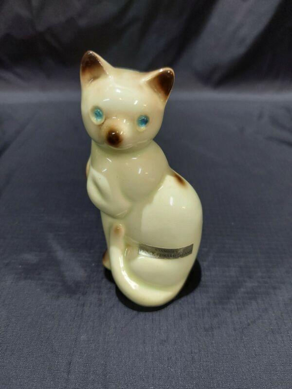 Vintage Collection Salt Shaker Siamese Cat With Blue Gem Eyes